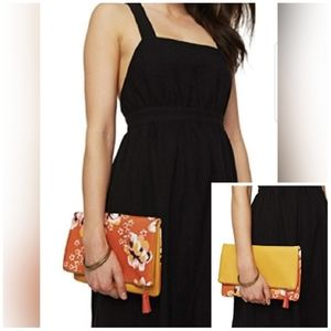 Rachel Pally Reversible Floral Fold Over Clutch